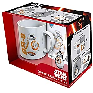 ABYstyle - Game Of Thrones Star Wars Gift Box Taza con llavero y Sticker BB8 para adultos, abypck076