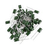 sourcing map 50 Stk Radiale Leitungen Polyester Film Kappe Kondensatoren 2A333J 100V 33nF 5% DE