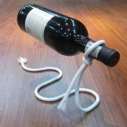 DSHRTY Weinregal Neue Flasche 3 Farbmultifunktionsmetall eine Flasche Wein-Präsentationsständer Küche, Esszimmer, Keller, Stab-Stand-Halter-Regale, Magie, Art Seil -