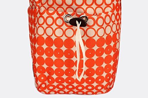 landuo Damen Baby Windel Windel Tasche groß rot orange