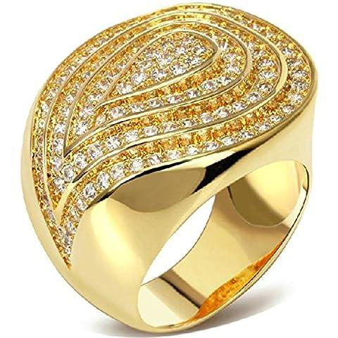 Anelli Di Fidanzamento Donna Placcato Oro L'Oro A Forma Di Cuore Cz Da (14k Diamante Tiffany Anello Setting)