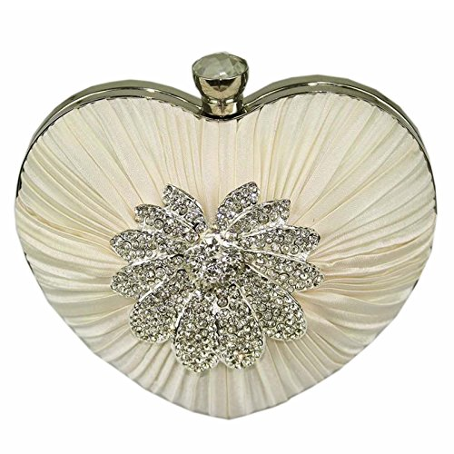 L And S Handbags, Poschette giorno donna Ivory