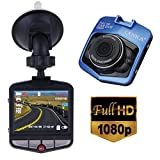 LANKA® Full HD 1080P Car Dash Cam DVR Camera Dashboard Digital Driving Video Recorder Built-in G-Sensor Parking Monitor Motion Detection Loop Recording (Blue)