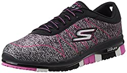 Skechers Womens Go Flex - Ability Black and Hot Pink Nordic Walking Shoes - 6 UK/India (39 EU) (9 US)
