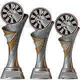 KDS® FG Pokalset je 1x Größe S, M, L Trophäen Dart Darts mit Emblem 70 mm aus Resin Kunstharz Massiv