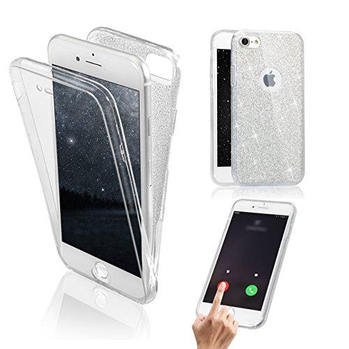iPhone 7 Plus / 8 Plus Hülle, Vandot Double Hülle für iPhone 7 Plus / 8 Plus (5,5 Zoll) Handyhülle Transparent Full Body Beidseitiger 360°Schutz Schutzhülle Touchscreen TPU Silikon Dünne Case Cover Fr Klar Clear