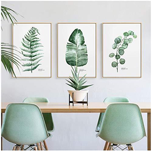 Estilo Plantas verdes Cactus Tríptico Pinturas lienzo