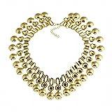 PENG Halskette Damen Anhänger Anker Los Creative Texture Kurze Halskette Schmuck Weihnachtsgeschenke Swarovski Steinen
