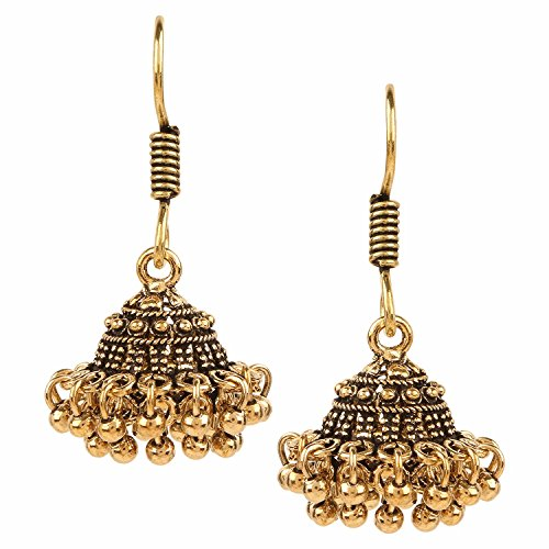 Archi Collection Oxidised Gold Plated Stylish Fancy Party Wear Dangler Earrings Jewellery for Girls
