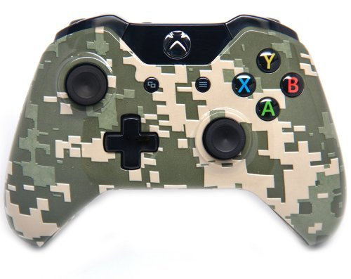 Digital Camo Xbox One Rapid Fire Modded Controller 40 Mods for COD Ghosts Quickscope, Jitter, Drop Shot, Auto Aim, Jump Shot, Auto Sprint, Fast Reload, Much More by Xbox One - Xbox Controller One Cod