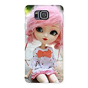 Cute Pink Doll Back Case Cover for Galaxy Alpha