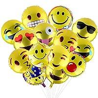 Palloncini Colorati Emoji Emoticon per Party, Compleanni, Matrimoni, DecorazioneCaratteristiche:  Realizzato in materiale di pellicola eccellente con stampa rispettosa dell'ambiente, questi prodotti offrono un uso sicuro per le decorazioni de...