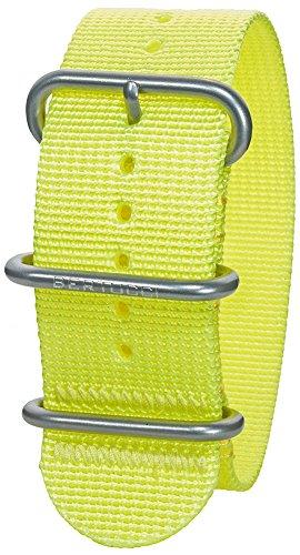 Bertucci DX3 B-113 Herren High-Viz gelb 26mm Nylon Uhrenarmband