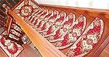 XIAOMEIXI 5 piezas de alfombras de piso de escalera de estilo europeo Carpe antideslizante anti-bacterias Ultra suave resistente a las manchas de casa Decorar contemporáneo Vivir único hogar , 1