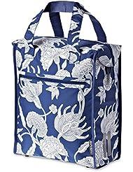 Basil Blossom Botanica-Shopper - Bolsa para el hombro, para bicicleta, color azul, tamaño 33 x 16 x 38 cm, 19 Liter, volumen liters 19.0