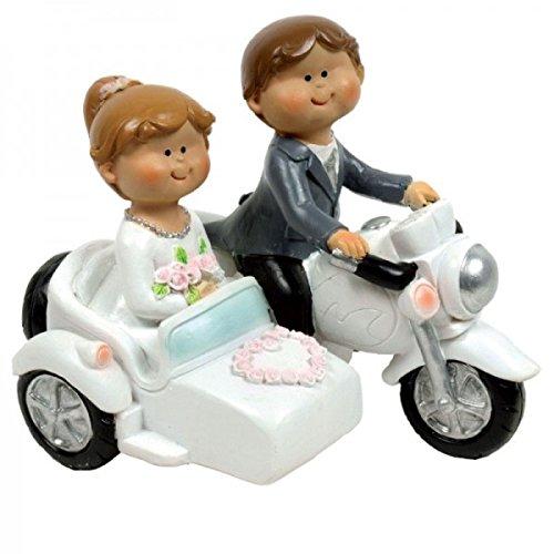 Figura Tarta Novios Moto con sidecar