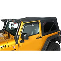 Rugged Ridge 13737.01 Soft Top, Black Diamond Sail Cloth; 10-18 Jeep Wrangler JK 2 Door