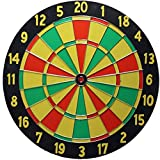 Land-Haus-Shop® Dartscheibe Wurfscheibe,Dart Wurf Spiel Scheibe mit Zubehör (Dartboard Holz)