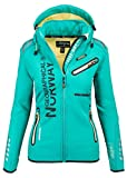Geographical Norway Damen Softshell Funktions Outdoor Regen Jacke Sport [GeNo-24-Grün-Gr.S]