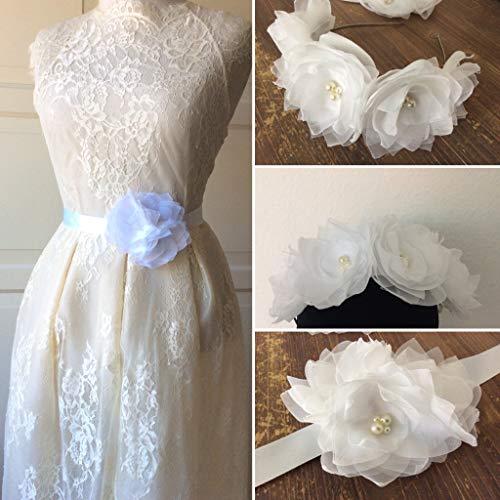 Brautgürtel und Haarblumen Set