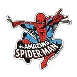Aimant de réfrigérateur The Amazing Spider-Man - aimant de frigo Marvel Comics - l`Homme Araignée - magnet Super-héroes - en forme - Design original sous licence - LOGOSHIRT