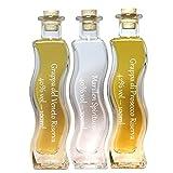 Probier- und Geschenkset | 3 x 100ml in einer edlen Wellen- Flasche | Grappa Prosecco 42 % vol. & Grappa del Veneto Riserva 40% vol. & Marillen Spirituose 40% vol.
