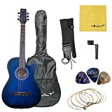 #3: Vault 38 Inch Cutaway Acoustic Guitar With Picks, Bag, Strings, Strap And String Winder