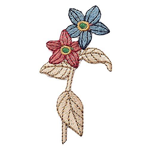 xunhui Blumen Patches für Kleidung Iron On Patches Aufkleber für Kleidung Dekoration Garment Aufnäher Zubehör 5Stück (3 Stück Dekorative Kissen)