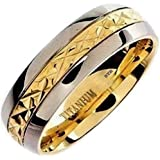 Mens Titanium Ring-8mm Wide Classic Luxury Wedding Engagement Comfort Fit Jewellery Band Ring