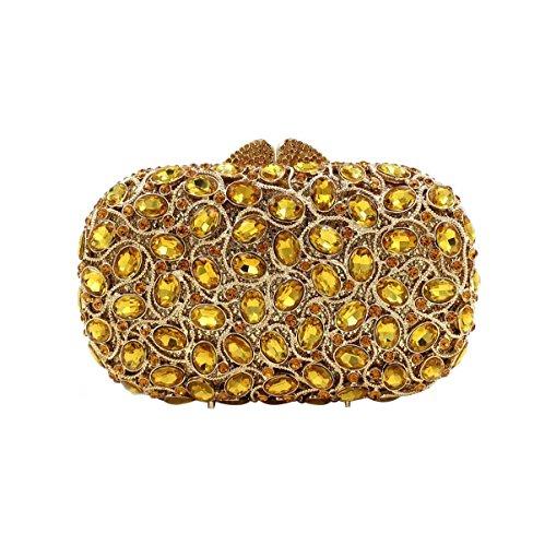 High-end Bag Cristallo Banchetto Borsa Da Sera Di Lusso Del Diamante Delle Donne Gold