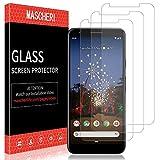 MASCHERI Schutzfolie Für Google Pixel 3A XL Panzerglas,[3 Stück] Displayschutzfolie Displayschutz Glas Folie Für Google Pixel 3A XL - klar