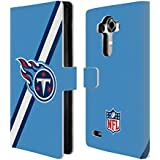 Official NFL Stripes Tennessee Titans Logo Leather Book Wallet Case Cover For LG G4 / H815 / H810