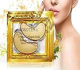 Beatie Eye Mask Augenpads Collagen Beste 10 Paar Golden Gel Collagen Dark Circles Masken Anti-Falten Pads Kollagen Feuchtigkeitsspendende Augenpads Beruhigende Pflaster mit Hyaluronsäure Kristall Anti-Aging Anti-Falten Entspannende (Gold)