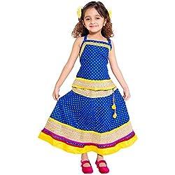 Archiecs Creations Beautiful Lehanga Choli With chaniya choli Skirt Set For Girls-KID102-3_Blue_6 - 7 Years