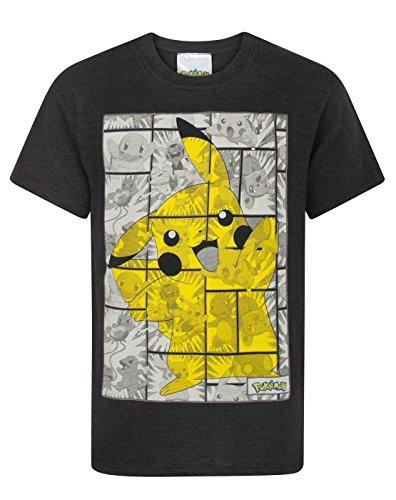 Pokemon -  T-shirt - Maniche corte  - ragazzo Black 5-6 Anni