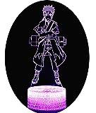 3D Optische Illusions-Lampen Win-Y LED-Schreibtisch Tischlampe 7 Farb-Touch-Lampen-Ausgang Schlafzimmer-Büro-Dekor für Kindergeburtstag Weihnachtsgeschenk (F)