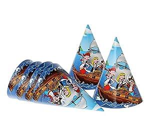 Atosa-Atosa-8443-gorro Pirata 16cm Carton 6 Unidades, Color Azul (8443)