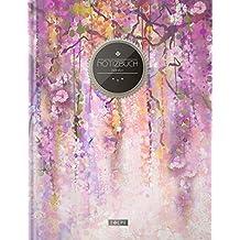 """TULPE Blanko Notizbuch A4 """"C058 Frühjahr"""" (140+ Seiten, Vintage Softcover, Seitenzahlen, Register, Weißes Papier - Dickes Notizheft, Skizzenbuch, Zeichenbuch, Blankobuch, Sketchbook)"""