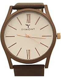 TYMONT Stylish Analog Round Dial Brown Leather Belt Formal Wrist Watch For Men's/Boys