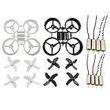 Sharplace Zubehör Set für JJRC H36 Eachine E010 | 8pcs Propeller + 8pcs Cw CCW Motoren +2pcs Propeller Schutzring