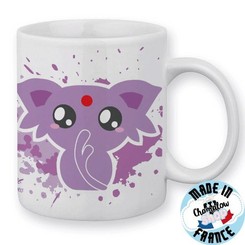 Mug Mentali / Espeon (Pokemon) Chibi et Kawaii by Fluffy Chamalow - Fabriqué en France - Chamalow Shop