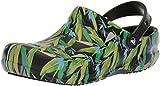 crocs Bistro Graphic Clog, Unisex - Erwachsene Clogs, Schwarz (Black/Parrot Green), 46/47 EU