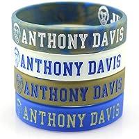 Lorh's store Basketball Anthony Davis Porträt Armband Nummer 23 Silikon Inspirierende Wort Sport Schweißbänder 4 Pcs