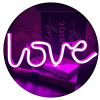 QiaoFei Neon Love Signs Light,LED Love Art Decorative Marquee Sign - Wall Decor for Wedding party Kids Room Living Room House Bar Pub Hotel Beach Recreational