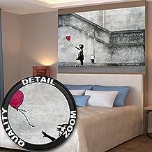 Póster Banksy Arte Chica con globo Mural Decoración siempre hay esperanza Banksy chica con globo Banksi Arte urbana Plantilla | foto póster mural imagen deco pared by GREAT ART (140 x 100 cm)