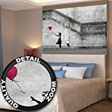 Poster Banksy Art Balloon girl Wandbild Dekoration There is always hope Banksy Girl with Balloon banksi street style stencil | Wandposter Fotoposter Wanddeko Wandgestaltung by GREAT ART (140 x 100 cm)