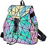Geometrica Zaino Donna Zainetto Ragazza Elegante Zaini Olografica Luminoso Casual Scuola Zaino Moda Borse a mano Backpack Daypack per Scuola Viaggio Lavoro (Color-2)
