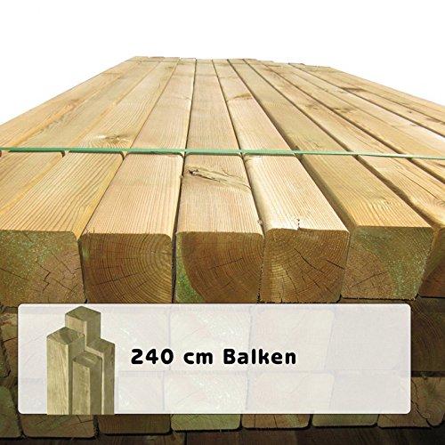 *10 Stück Holzpfosten 9×9 cm Länge 240 cm Kantholz-Pfosten mit Kopf gekappt*