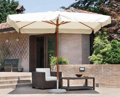 Ombrellone da giardino in legno con palo centrale 3 x 2 metri