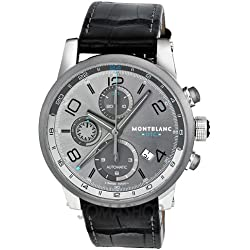 Montblanc TimeWalker 107339 43mm Automatic Stainless Steel Case Black Leather Anti-Reflective Sapphire Men's Watch